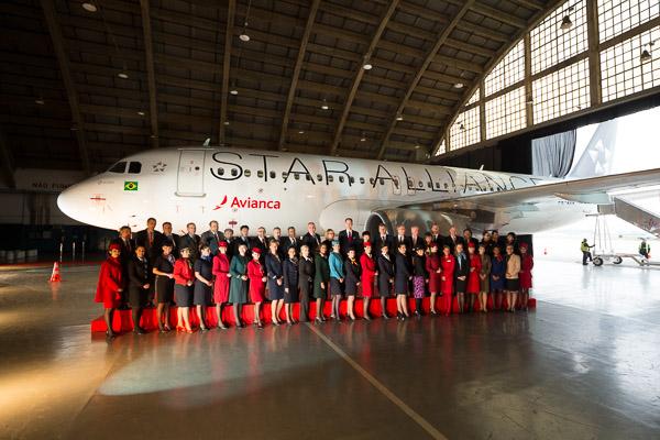 Az ünnepség egyik főszereplője a légitársaság Star Alliance festésű A320-as repülőgépe volt (Fotók: Star Alliance)   © AIRportal.hu