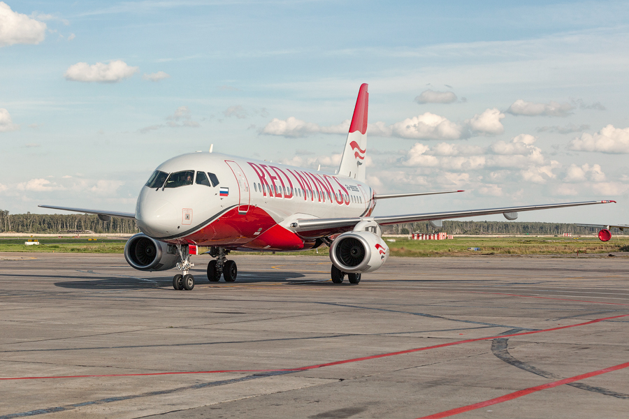 A Red Wings negyedik SSJ-100-asa. (Fotó: SuperJet International)   © AIRportal.hu