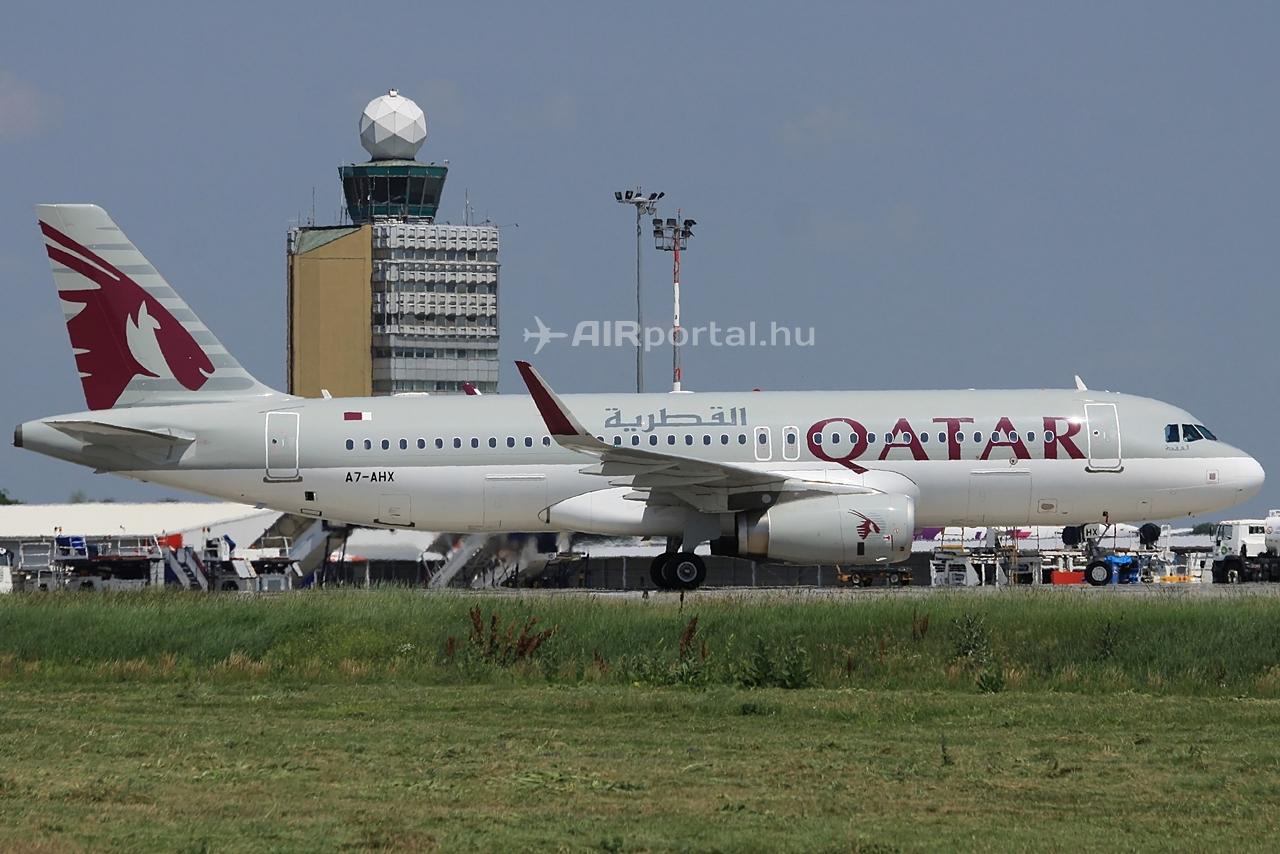 Sharklet szárnyvéggel ellátott Qatar Airways A320 Budapesten.Fotó: Csemniczky Kristóf - AIRportal.hu | © AIRportal.hu