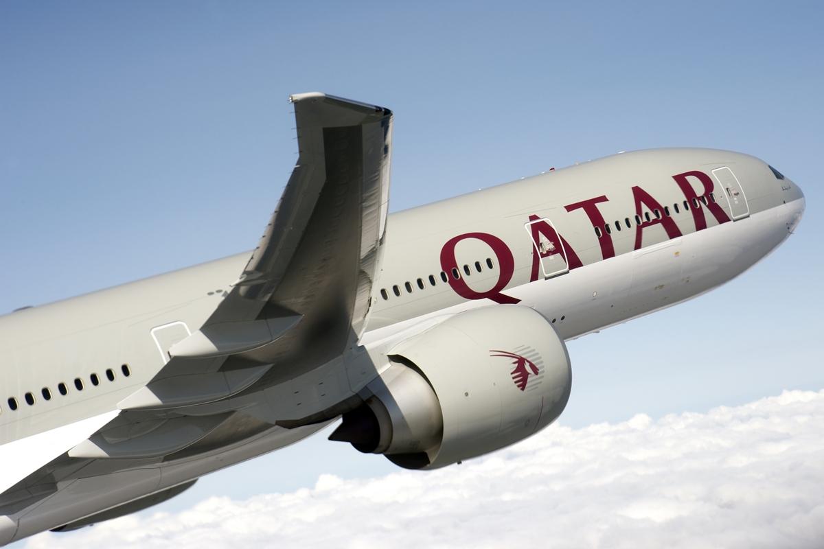 Katari Boeing 777-300ER repülés közben. (Fotó: Qatar Airways) | © AIRportal.hu