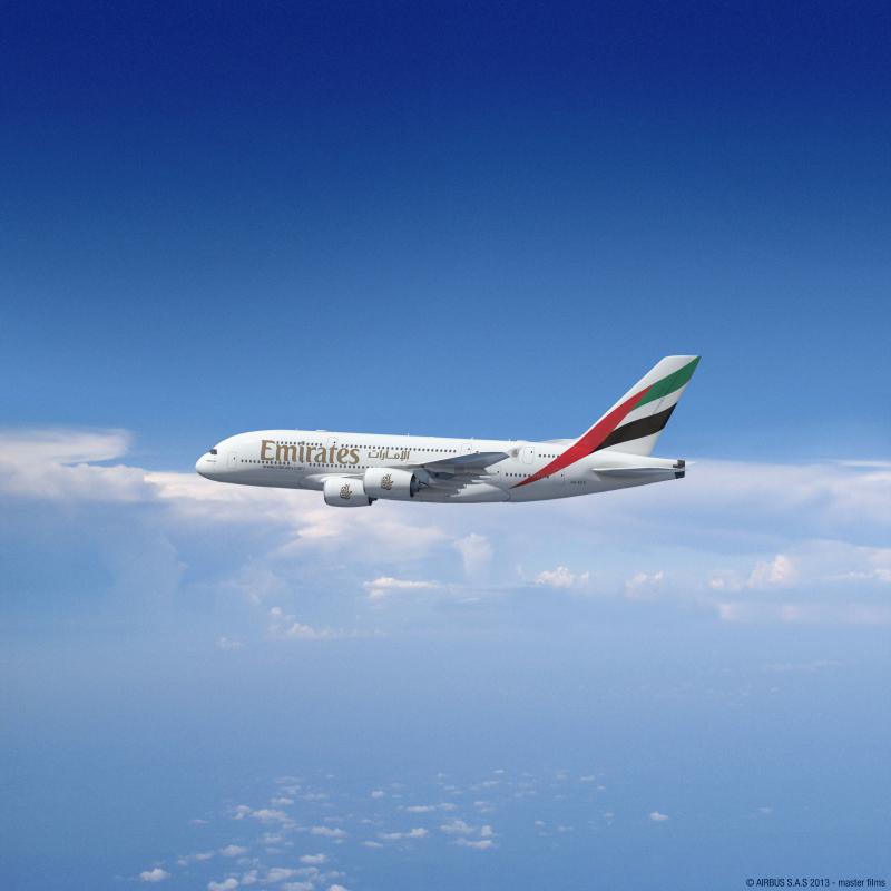 Emirates A380-800-as. (Fotó: Emirates) | © AIRportal.hu