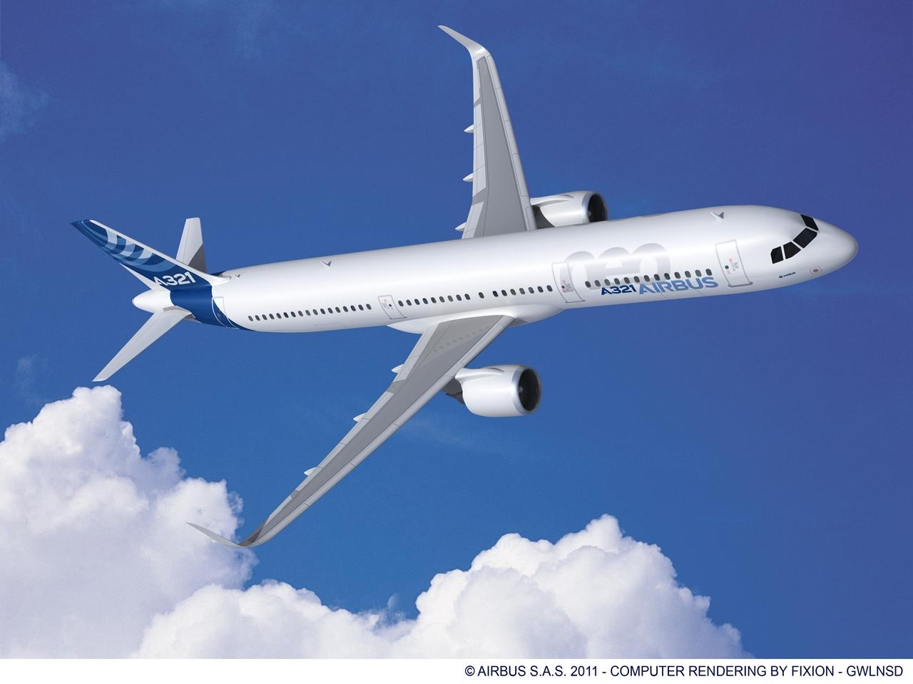 Airbus A321neo látványterv. A típusvariáns berepülési programja még nem vette kezdetét. (Forrás: Airbus) | © AIRportal.hu