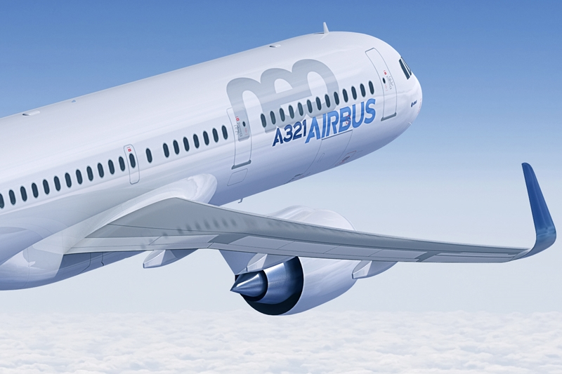 A jelenlegi A321neo maximális utaskapacitása 220 fő, az A321neo a SpaceFlex csomaggal már 236 főt vehet a fedélzetére. (Fotó: Airbus) | © AIRportal.hu