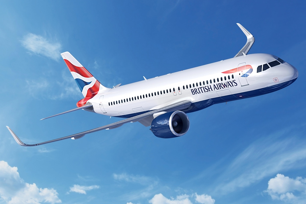 Airbus A320neo British Airways színekben, látványterven.(Forrás: Airbus) | © AIRportal.hu