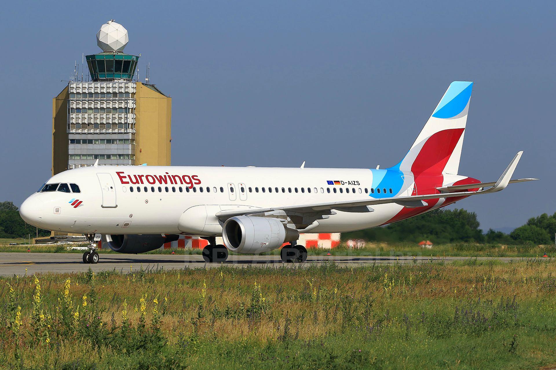 Eurowings Airbus A320-as Ferihegyen.(Fotó: Ispán Tamás - AIRportal.hu) | © AIRportal.hu