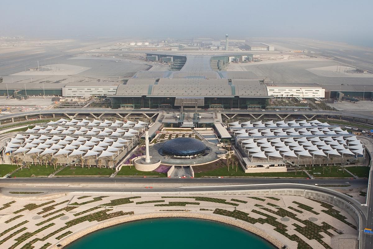 Doha új repülőtere madártávlatból. (Fotó: Hamad International Airport) | © AIRportal.hu