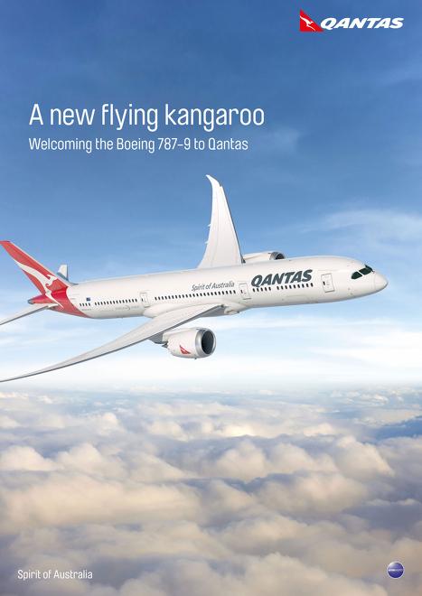 A Qantas máris köszönti a 787-9-est. (Forrás: Qantas via Australian BusinessTraveller) | © AIRportal.hu
