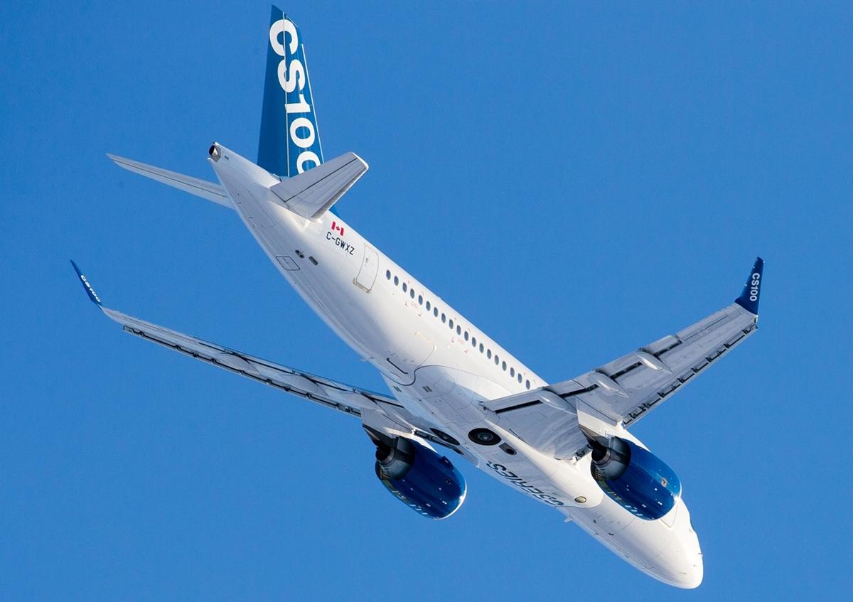CS100-as repülés közben. (Fotó: Bombardier Aerospace) | © AIRportal.hu
