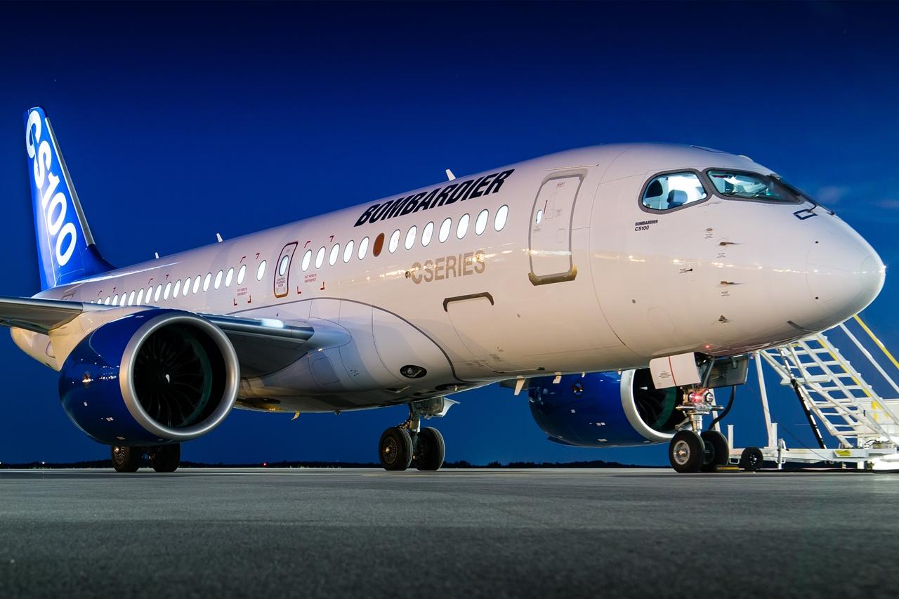 CS100-as prototípus gyári festésben.(Fotó: Bombardier Aerospace) | © AIRportal.hu