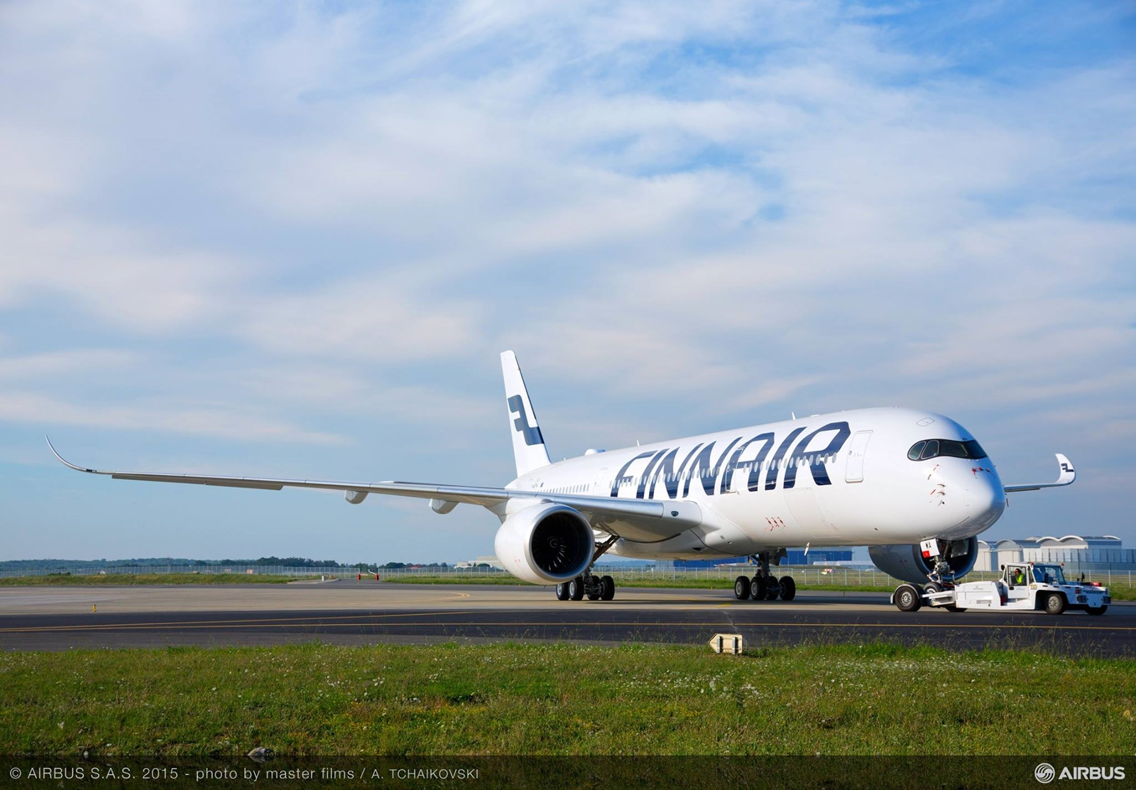 A Finnair első A350-900-asa Toulouse-ban. (Fotó: Airbus)   © AIRportal.hu