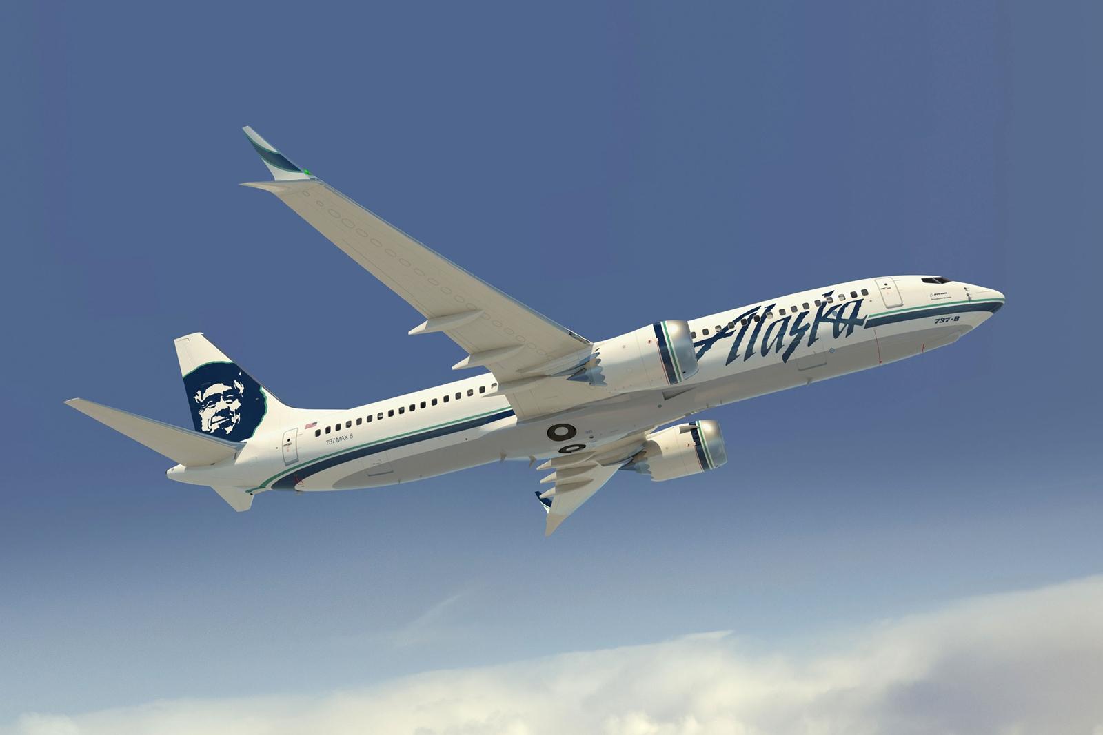 Alaska Airlines Boeing 737 MAX-8 számítógépes látványterven.(Forrás: Boeing Company) | © AIRportal.hu