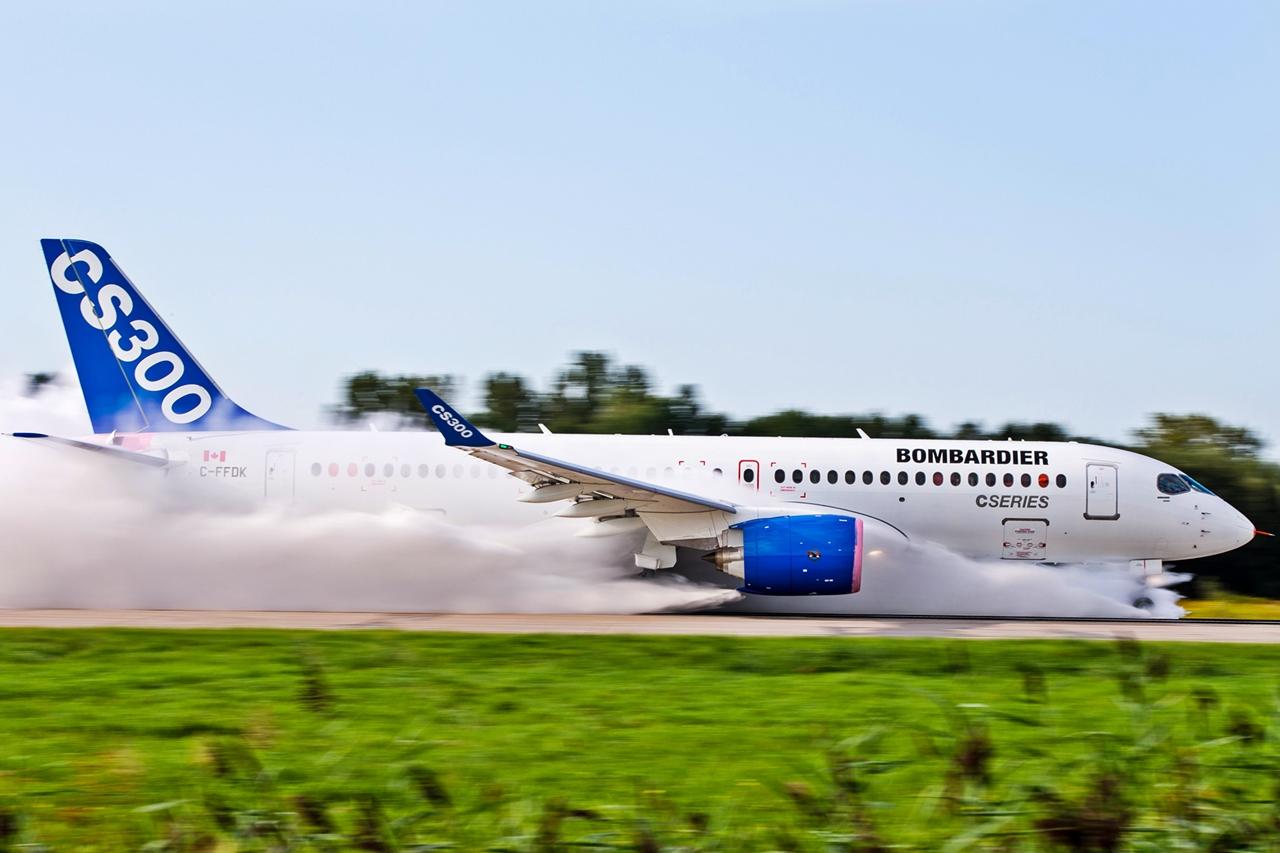 A futópályán elért legnagyobb sebesség 120 csomó volt. (Fotó: Bombardier Aerospace) | © AIRportal.hu