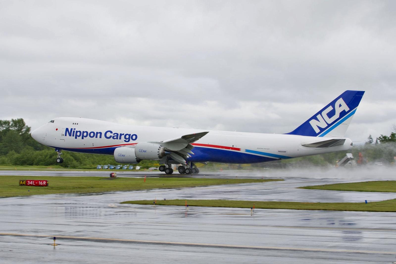 A Nippon Cargo Airlines első Boeing 747-8F gépe az átadás napján, 2012-ben. (Fotó: Boeing Company)   © AIRportal.hu