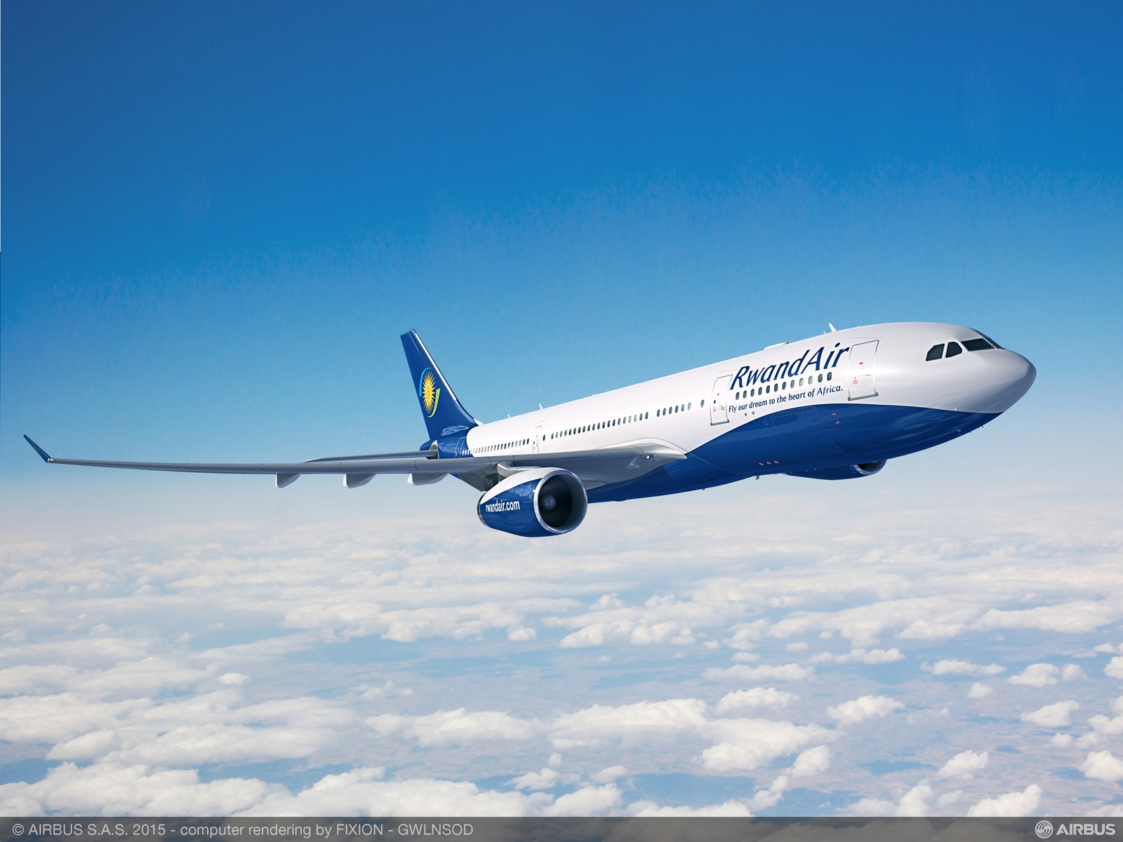 RwandAir A330-200 látványterven. (Forrás: Airbus) | © AIRportal.hu
