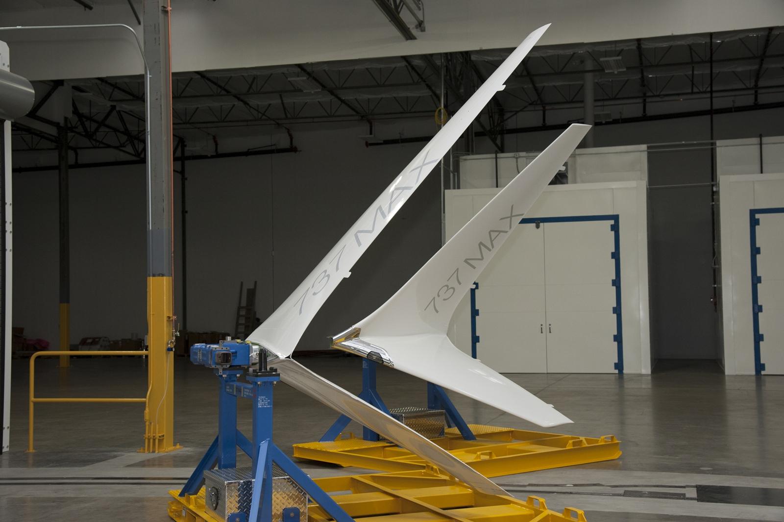 Az Advanced Technology wingletek még a felszerelésük előtt. (Fotó: Boeing Company)   © AIRportal.hu