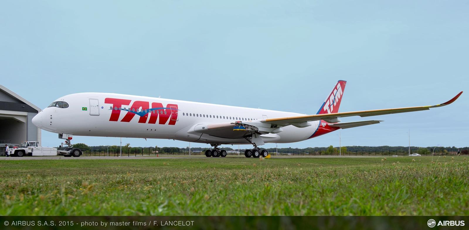 TAM A350-900 MSN24, egyelőre hajtóművek nélkül. (Fotó: Airbus)   © AIRportal.hu