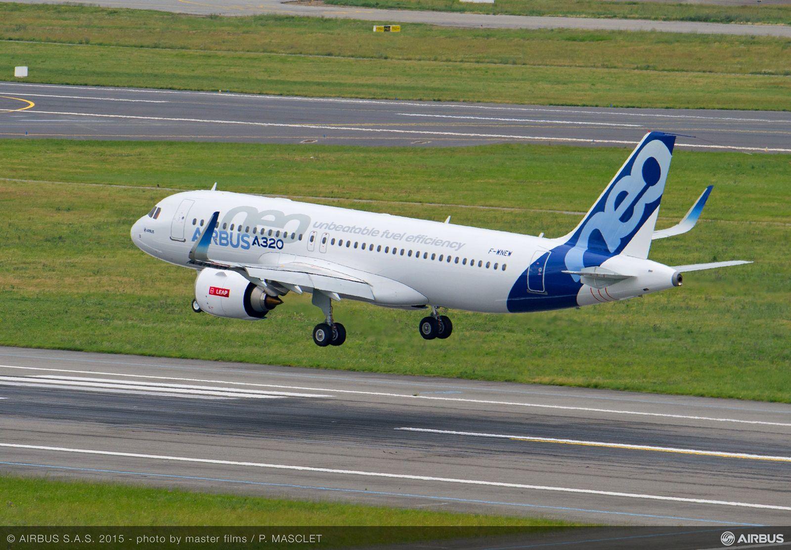 A320neo prototípus leszállás közben Toulouse-ban. A kép illusztráció. (Fotó: Airbus) | © AIRportal.hu