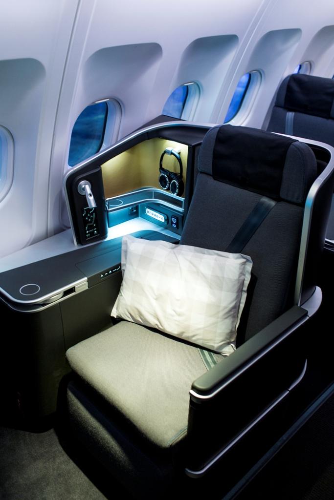 Az A330-asok új business ülése. (Fotó: SAS) | © AIRportal.hu