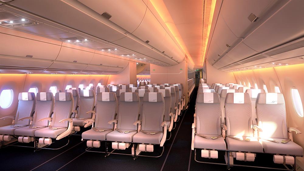 Az Economy Class látványterve. (Forrás: Finnair)   © AIRportal.hu