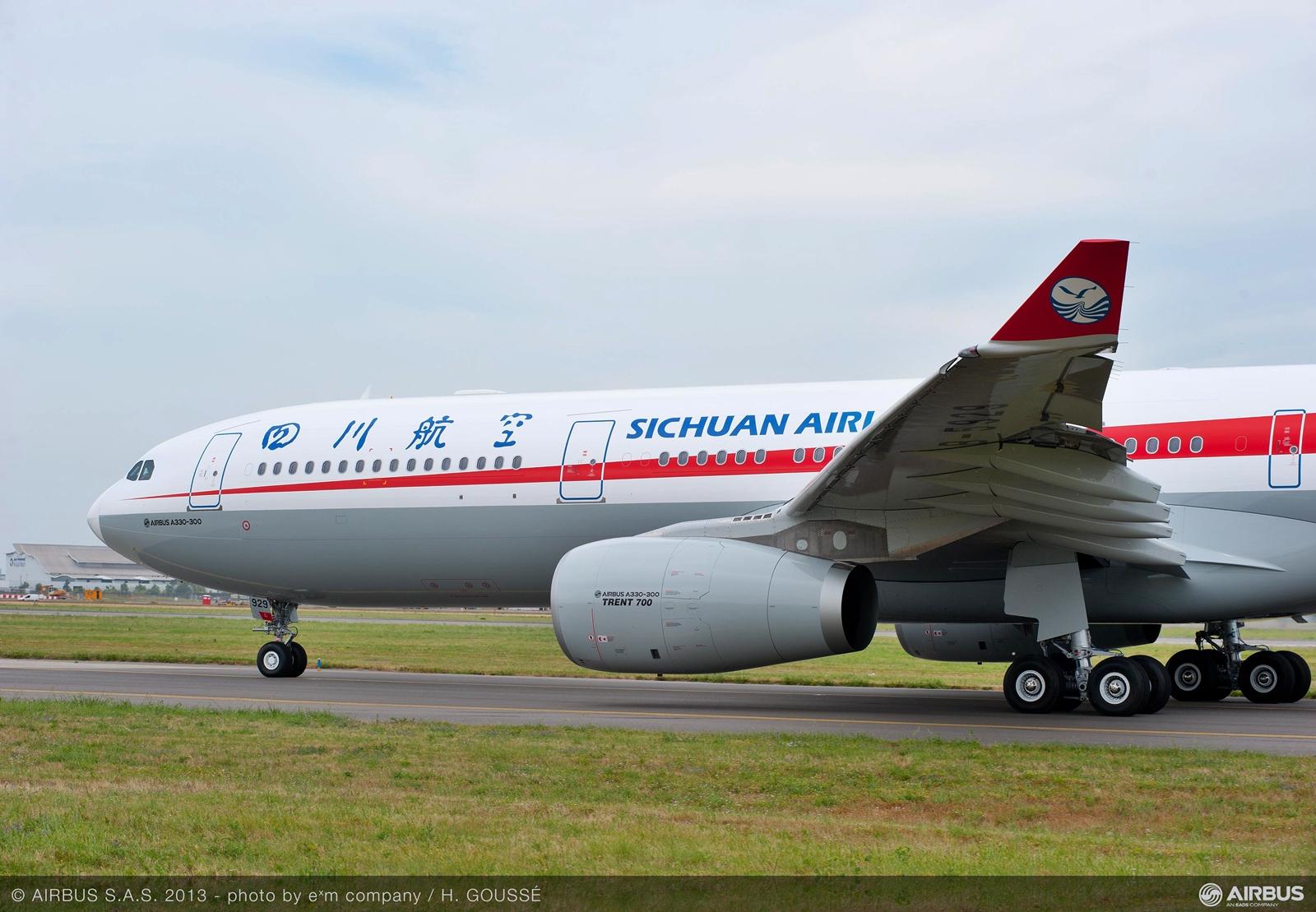 Sichuan Airlines A330-300-as Rolls hajtóművekkel. (Fotó: Airbus) | © AIRportal.hu
