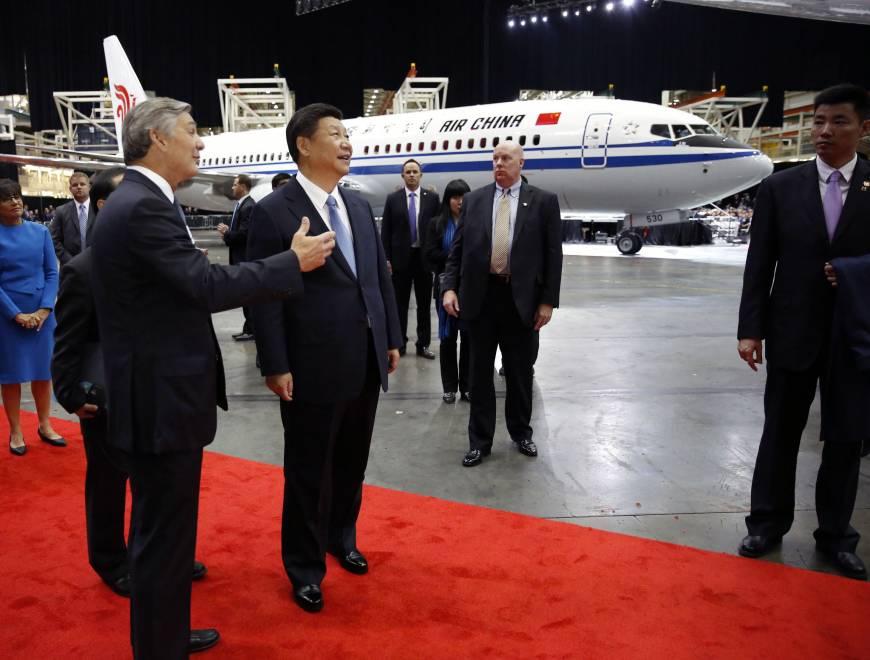Hszi Csin-ping, a Kínai Népköztársaság elnöke Everettben. (Fotó: Jason Redmond - AP) | © AIRportal.hu