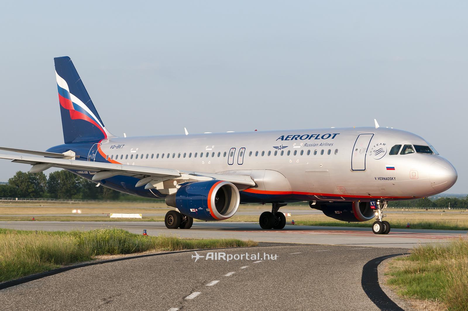 Az Aeroflot Airbus A320 típusú repülőgépe. (Fotó: Bodorics Tamás - AIRportal.hu) | © AIRportal.hu