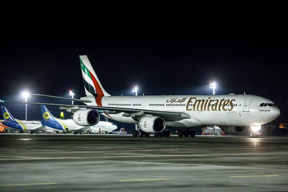 Az Emirates A340-500-asának egyik utolsó európai útvonala Kijev volt. (Fotó: Emirates) | © AIRportal.hu