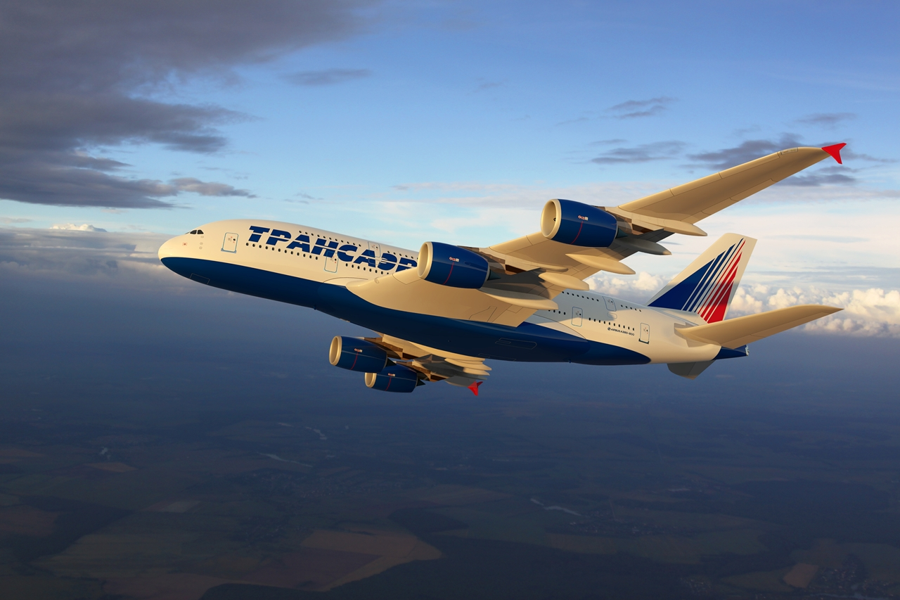 A380-800-as látványterven. (Forrás: Transaero Airlines) | © AIRportal.hu