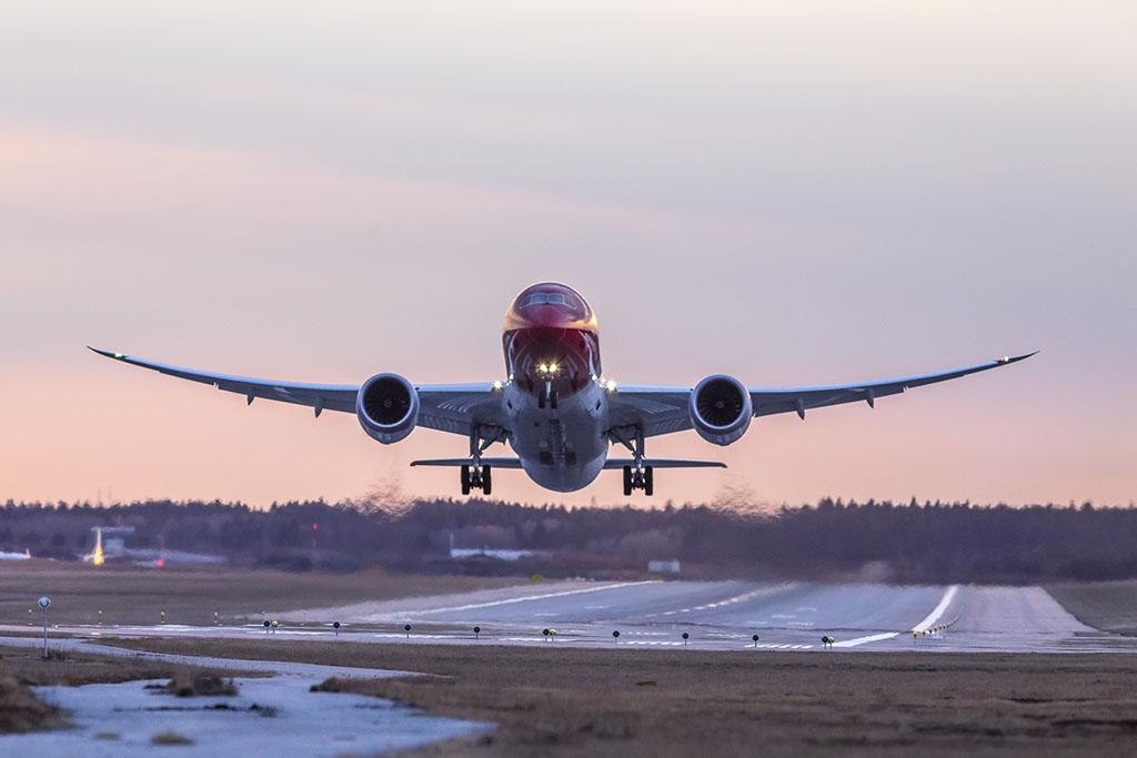 Norwegian Boeing 787-8-as felszállás közben. (Fotó: Norwegian) | © AIRportal.hu