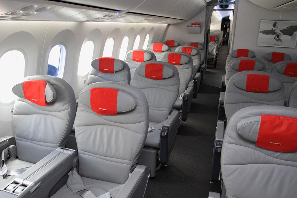Prémium turista ülések a flotta egyik 787-8-asán. (Fotó: Norwegian) | © AIRportal.hu