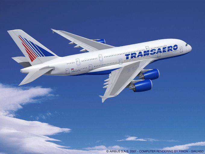 Így nézett volna ki a Transaero A380-asa. Fotó: Airbus   © AIRportal.hu