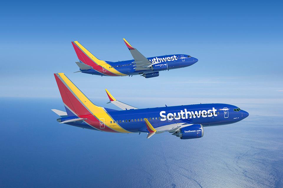 Boeing 737-700 és 737 MAX-7 a Southwest színeiben. (Forrás: Boeing) | © AIRportal.hu