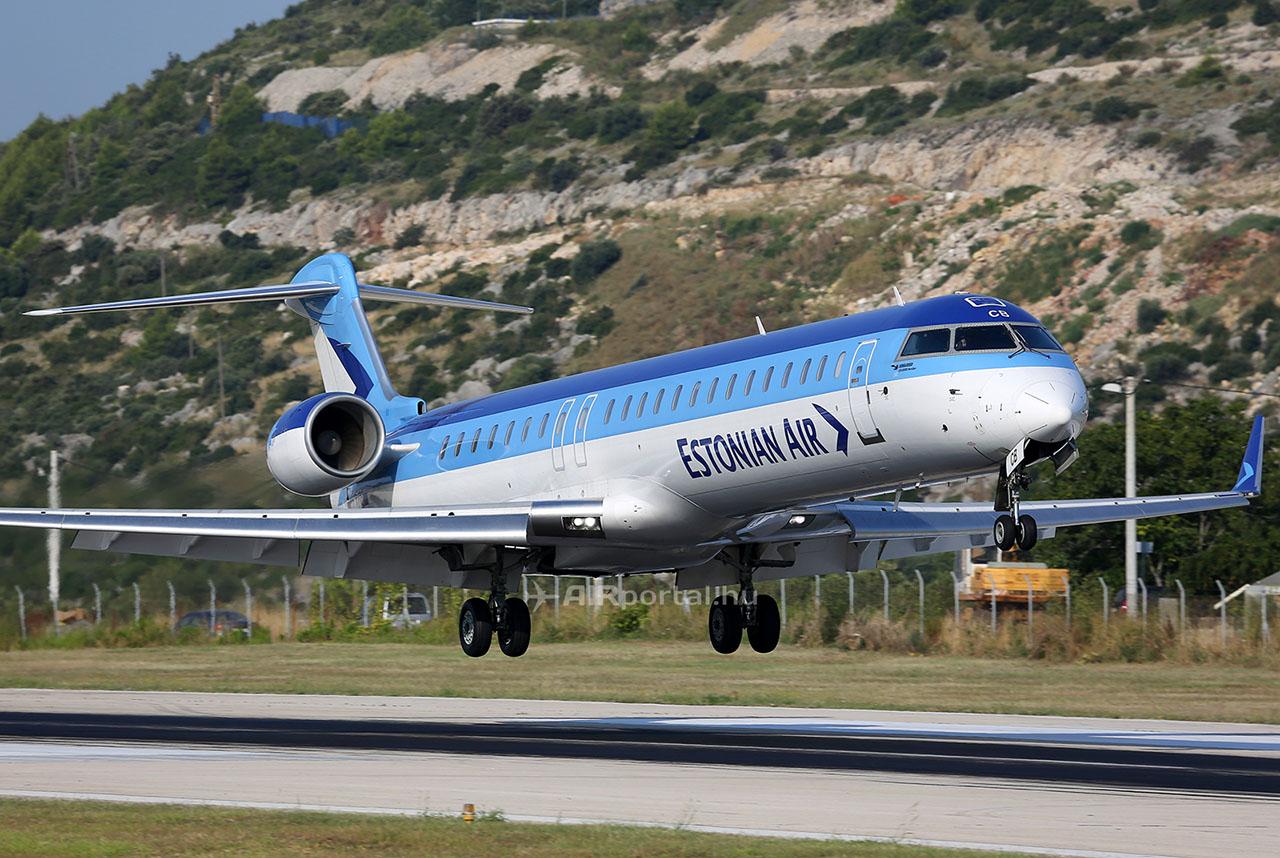 Az Estonian Air CRJ-900-as repülőgépe. (Fotó: AIRportal.hu)   © AIRportal.hu