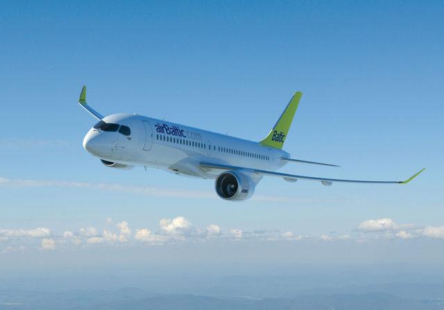 Az Air Baltic által rendelt Bombardier CS300-as. Fotó: airBaltic | © AIRportal.hu