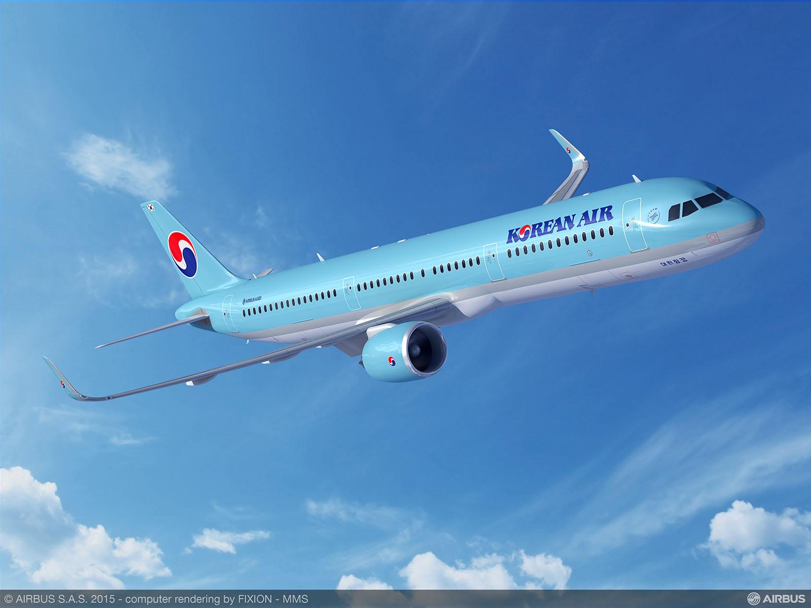 A Korean Air A321neo látványterve. (Grafika: Airbus) | © AIRportal.hu
