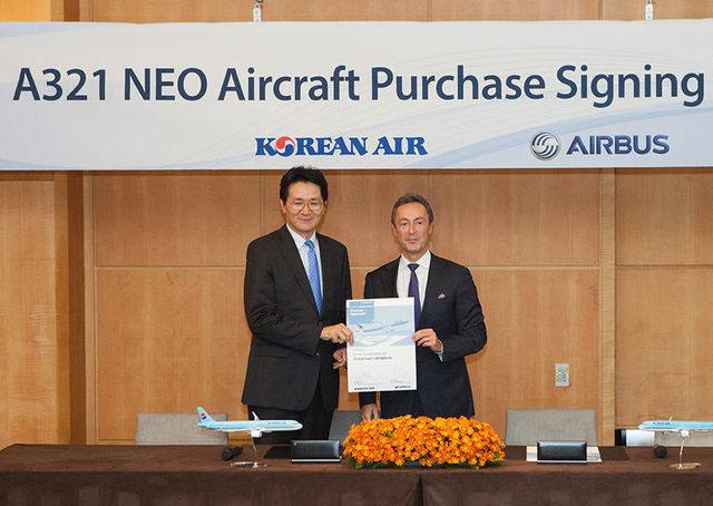 Az ünnepélyes aláírás a Korean Air-rel. (Fotó: Airbus) | © AIRportal.hu