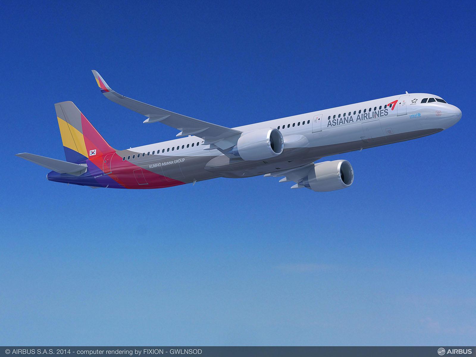Az Asiana A321neo látványterve. (Grafika: Airbus) | © AIRportal.hu