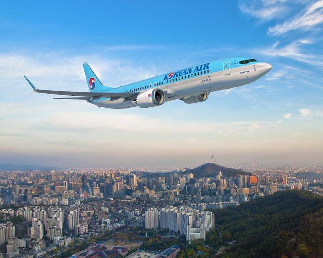 Boeing 737 MAX8 a Korean Air színeiben. (Grafika: Boeing Company) | © AIRportal.hu