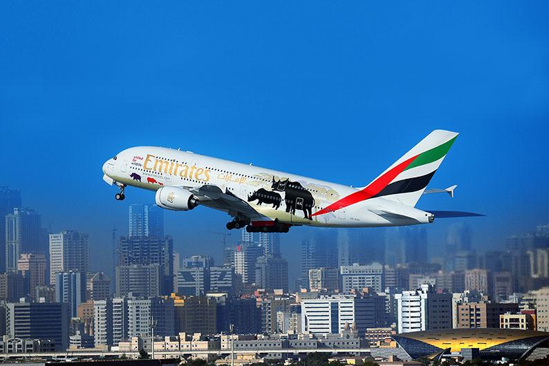 A második A380-as festése kevésbé részletes, de a lényeg a problémára való rávilágítás. (Forrás: Emirates/facebook)   © AIRportal.hu