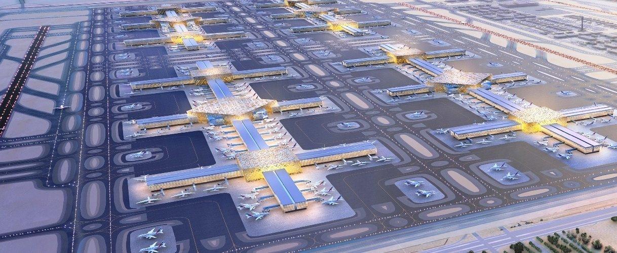 Al Maktoum - Dubai World Central (DWC) fejlesztési elképzelései látványterveken   © AIRportal.hu