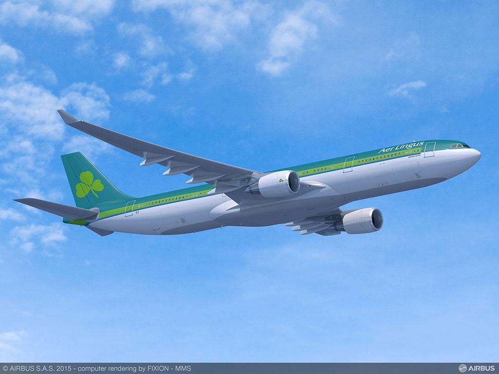 A330-300-as az Aer Lingus festésében (Forrás: Airbus)   © AIRportal.hu