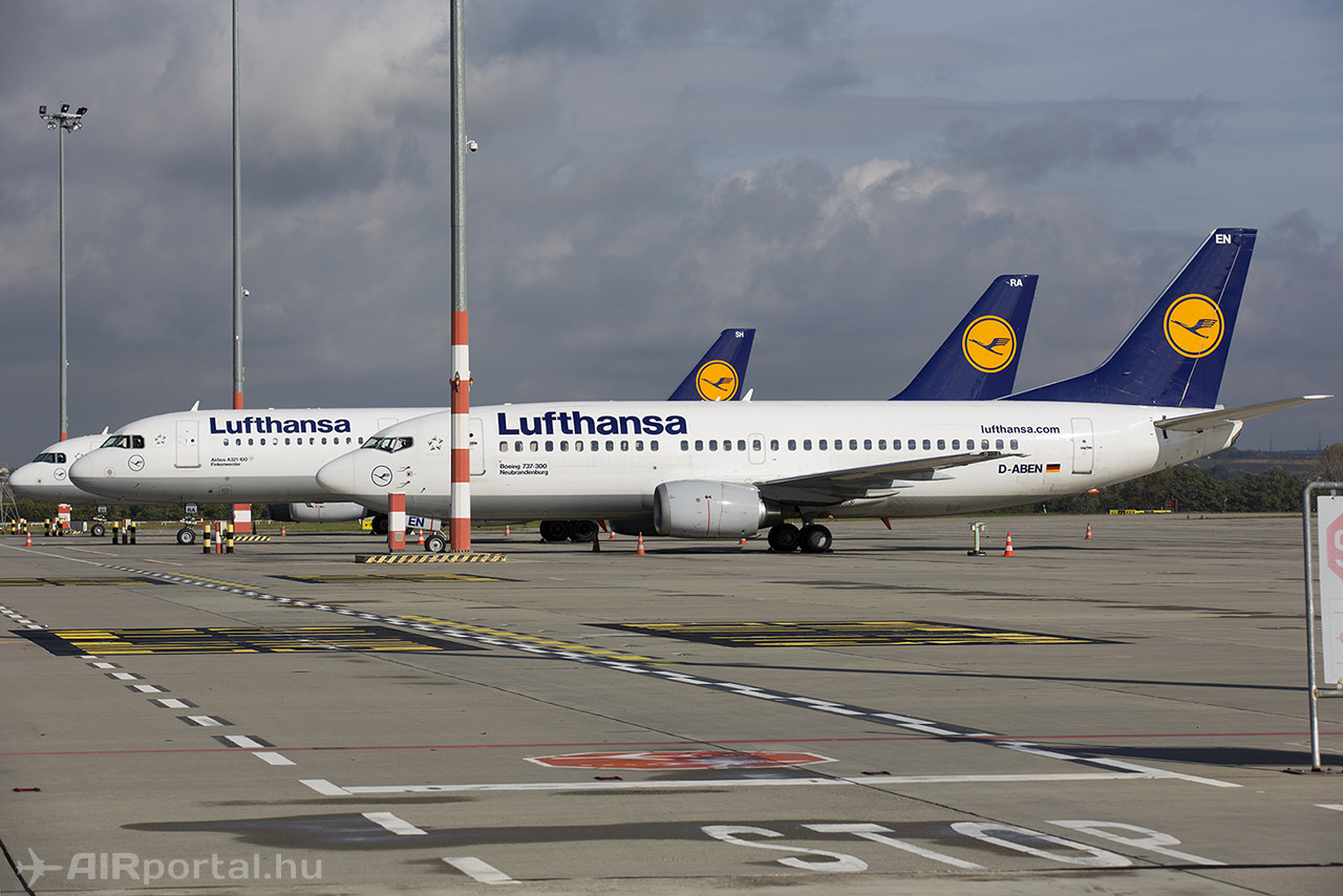Sztrájk miatt Budapesten rekedt Lufthansa-gépek 2014. októberében Budapesten. Illusztráció. (Fotó: AIRportal.hu) | © AIRportal.hu