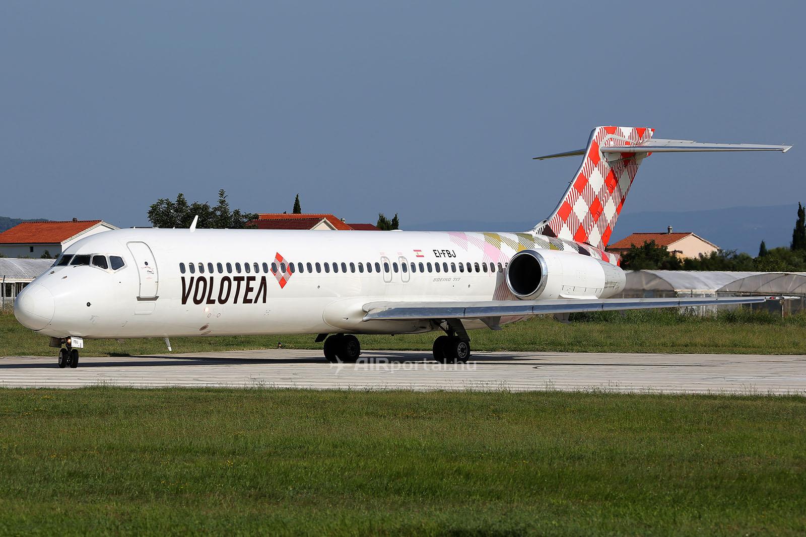 A Volotea Boeing 717-es repülőgépe. (Fotó: AIRportal.hu) | © AIRportal.hu