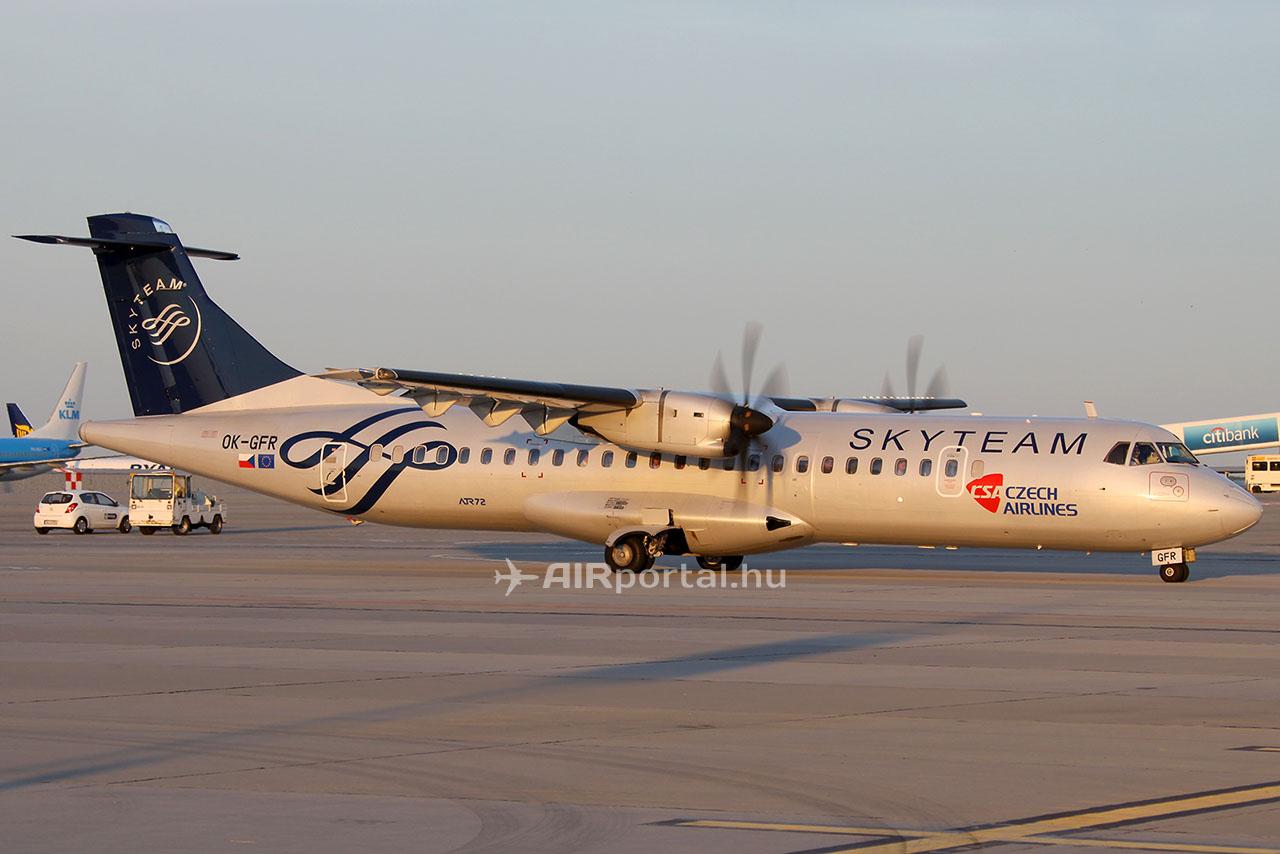 A SkyTeam tag CSA Budapestre általában ATR típusú repülőgépekkel üzemelteti járatait. (Fotó: AIRportal) | © AIRportal.hu
