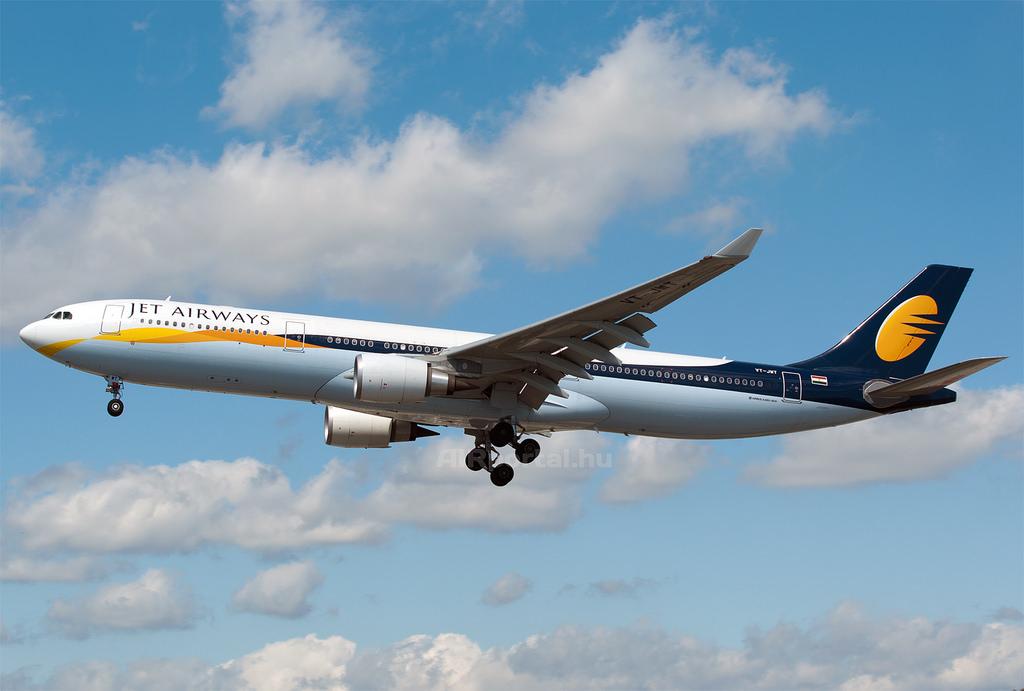 A JET Airways A330-as repülőgépe. (Fotó: AIRportal.hu)   © AIRportal.hu