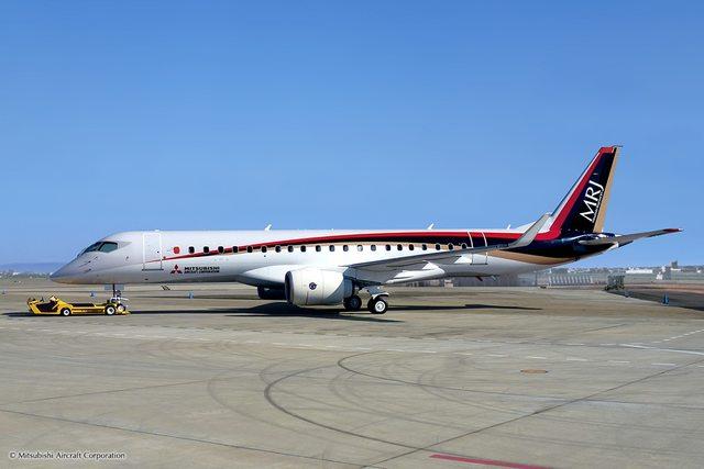 Mitsubishi Regional Jet 90-es gyári színekben.(Fotó: Mitsubishi Aircraft Corporation)   © AIRportal.hu