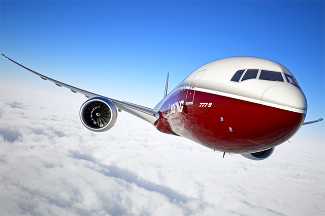Az új generációs 777X látványterve, melynek terveit 2015. augusztusban véglegesítette a Boeing. (Grafika: Boeing Company) | © AIRportal.hu
