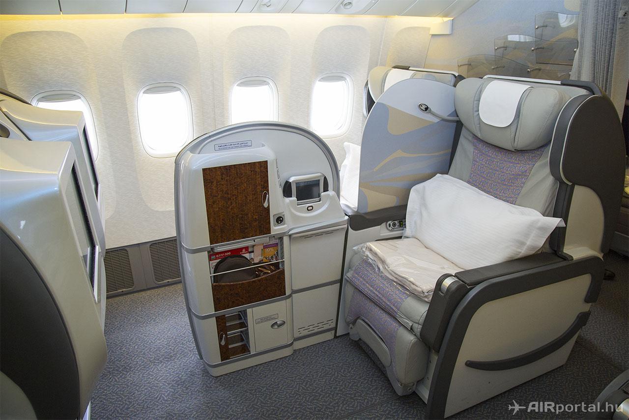 ... és a First Class ülés. | © AIRportal.hu