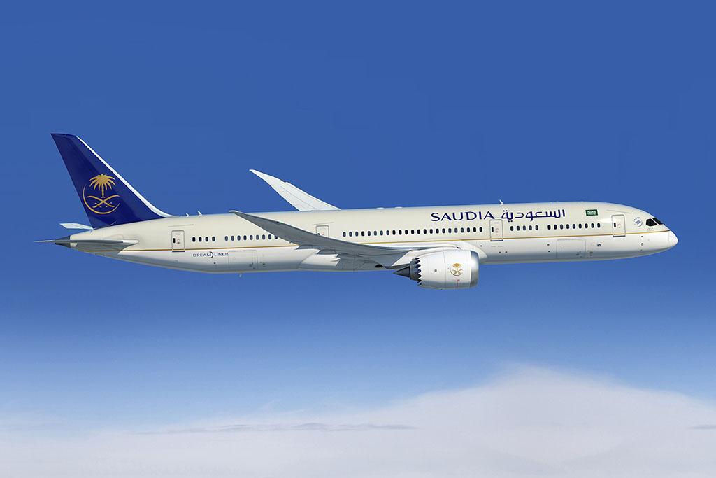 Boeing 787-9 Dreamliner a Saudia festésében (Grafika: Boeing) | © AIRportal.hu