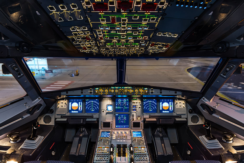 A320 pilótafülke. (Fotó: AIRportal.hu) | © AIRportal.hu